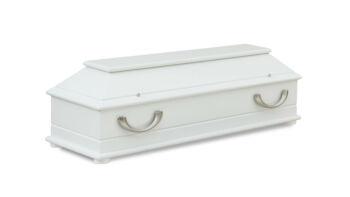 Magusa 190 105 08-2 Kindersarg modern 105 weiß - Griff 802 edestahl