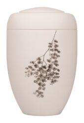 Magusa B0700 Grafik-Urne cremeweiss Orchidee klein