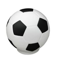Magusa FFUSSB SW Keramikurne Fussball schwarz weiß