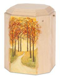 Magusa GRImago 154 Buchenholz natur mit Herbstwald handbemalt