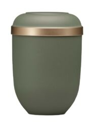 Magusa H21331 Naturstoff, Olivegrün-Velour, Goldrand